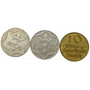 Free City of Danzig, Lot of 10 pfennig