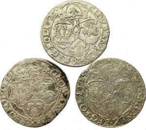 Sigismund III, Lot of 6 groschen 1624-26