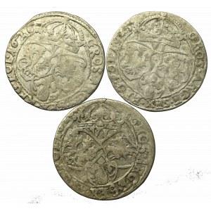Sigismund III, Lot of 6 groschen 1625-26