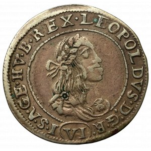 Węgry, Leopold I, 6 krajcarów 1672