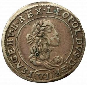 Hungary, Leopold I, 6 kreuzer 1672