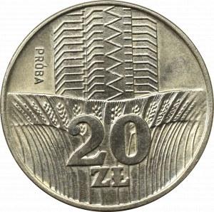 Peoples Republic of Poland, 20 zloty 1973 - Specimen