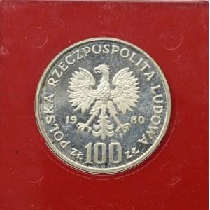 PRL, 100 złotych 1980 Olimpiada - Próba