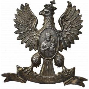 PRL, Plakieta orzeł na wstędze z medalionem Matka Boska 1946