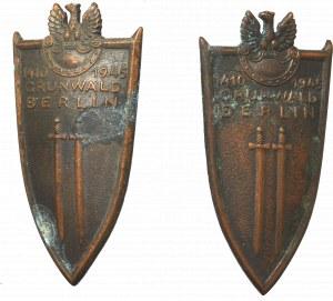 PRL, Odznaka grunwaldzka zestaw 2 odmian