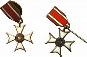 PRL, Zestaw miniaturek Krzyża Orderu Odrodzenia Polski