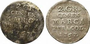 Stanisław August Poniatowski, Zestaw złotówka 1767 i półzłotek 1766