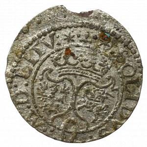 Zygmunt III Waza, Szeląg 1624, Wilno - rzadkość data przy monogramie