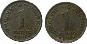 Królestwo Polskie, zestaw 1 fenig 1918