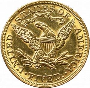 USA, 5 dollars 1880, Philadelphia Liberty