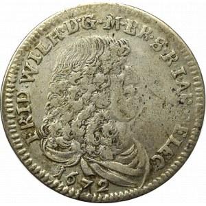 Niemcy, Prusy, 1/3 talara 1672