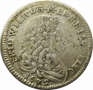 Germany, Preussen, 1/3 thaler 1672