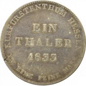 Germany, Hessen, Thaler 1833