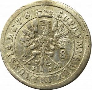 Prusy Książęce, Fryderyk, Ort 1676, Królewiec - przebitki