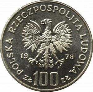 PRL, 100 złotych 1978 Korczak - Próba