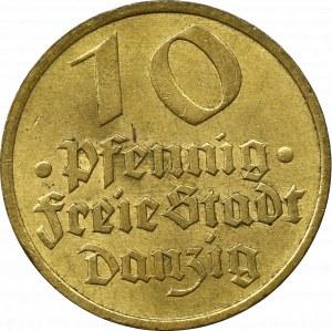 Wolne Miasto Gdańsk, 10 fenigów 1932 Dorsz