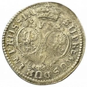 Prusy Książęce, Szóstak 1686, Królewiec