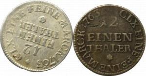 August III Sas i Fryderyk Chrystian, Zestaw 1/12 talara 1763