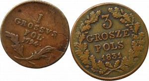 Galicja i Lodomeria, 1 grosz 1794 i Powstanie Listopadowe 3 grosze 1831