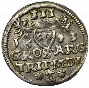 Sigismund III, 3 groschen 1593, Vilnius