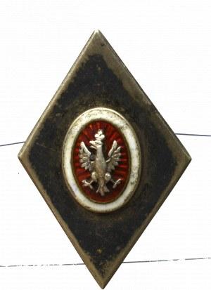 Polska, Odznaka patriotyczna z orłem - srebro
