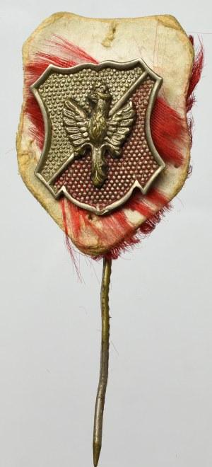 II RP, Tarczka biało czerwona z miniaturą orła
