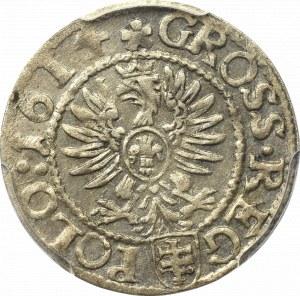 Zygmunt III Waza, Grosz 1614, Kraków - PCGS AU58