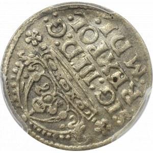 Sigismund III, Groschen 1614, Cracow - PCGS AU58