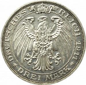 Germany, Preussen, 3 mark 1911 - 100 years of the Breslau University