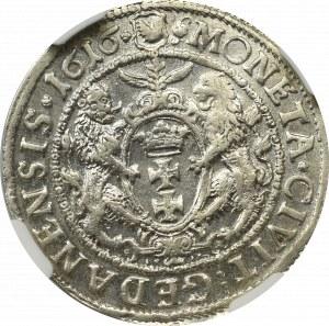 Zygmunt III Waza, Ort 1616, Gdańsk - NGC AU53