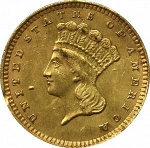 USA, 1 dollar 1857, Filadelfia