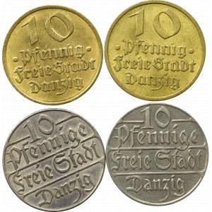 Free city of Danzig, Lof of 10 pfennig (4 ex.)