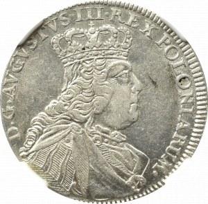 Germany, Saxony, Friedrich August II, 18 groschen 1754, Leipzig - NGC AU55