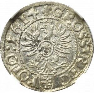 Sigismund III, Groschen 1614, Cracow - NGC MS63