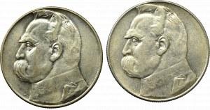 II Republic of Poland, Lot of 10 zloty 1935-36 Pilsudski