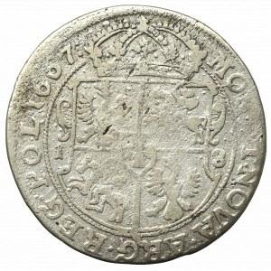 John II Casimir, 18 groschen 1667, Bromberg