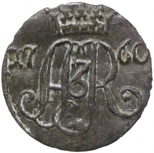 August III Sas, Szeląg 1760, Toruń - D-B wąska korona