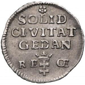 August III Sas, Szeląg 1763, Gdańsk - czyste srebro