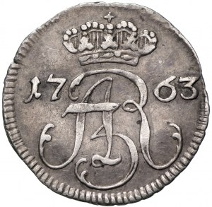 Germany, Saxony, Friedrich August II, Schilling 1763, Danzig - pure silver