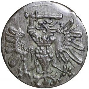 Bezkrólewie, Denar 1573, Gdańsk - tarcza dwunastołukowa