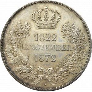 Niemcy, Saksonia, Jan, 2 talary 1872 B - złote wesele