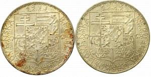 Czechosłowacja, Zestaw 20 koron 1933-34