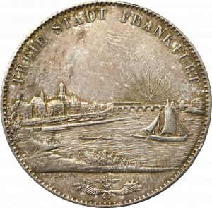 Germany, Frankfurt, 2 taler = 3 1/2 gulden 1840
