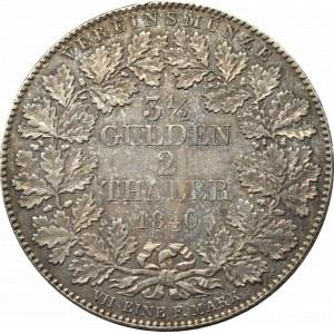 Niemcy, Frankfurt, 2 talary = 3 1/2 guldena 1840
