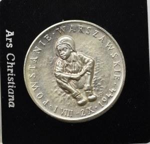 PRL, Medal Powstanie Warszawskie Ars Christiana 1984 - srebro