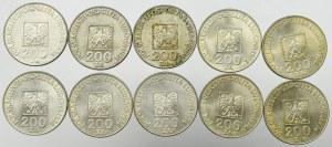 PRL, Zestaw 200 złotych 1974 Mapa (10 egz)
