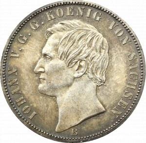 Germany, Saxony, Johann, 1 Thaler 1871 B