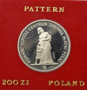 PRL, 200 złotych 1985 Centrum Zdrowia Matki Polki - Próba Nikiel-FeFe