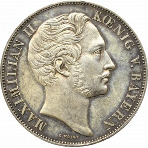 Niemcy, Bawaria, Talar = 2 Guldeny 1855