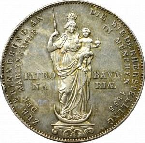 Germany, Bavaria, Taler = 2 gulden 1855